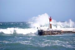 Lighthouse in Kalkbay, CapeTown Stock Photo