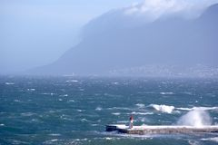 Lighthouse in KalkBay CapeTown, South Africa Stock Image