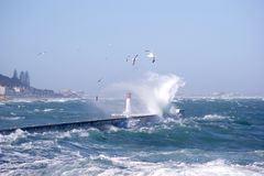 Lighthouse in KalkBay CapeTown, South Africa Stock Photography