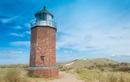 Lighthouse at Kampen stock image