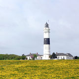 The lighthouse of Kampen on Sylt in May Royalty Free Stock Photo