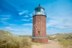 Lighthouse at Kampen stock photography
