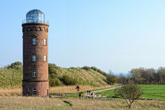 Lighthouse on Kap Akona (Germany) Royalty Free Stock Image