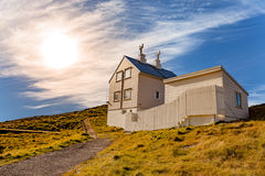 The lighthouse keeper's house. On the island Fjoloy in Mosteroy, Norway stock images