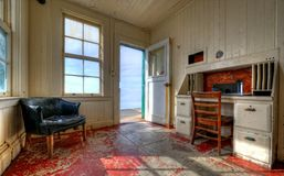 Lighthouse keeper's room Stock Images
