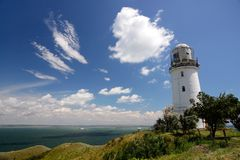 Lighthouse in Kerch Strait Royalty Free Stock Images