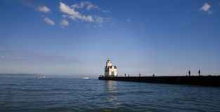 Lighthouse in Kewaunee Royalty Free Stock Photos