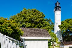 Key West Lighthouse and grounds stock photos