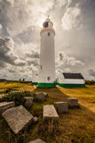 Lighthouse in Keyhaven. Photo was taken in area of Milford on sea, Keyhaven next to the Hurst Castle,UK royalty free stock photo