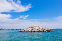 A lighthouse in Khao samet, Thailand Royalty Free Stock Photo
