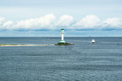 Lighthouse in Kiel, Baltic Sea Royalty Free Stock Image