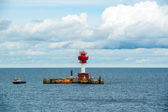 Lighthouse Kiel, Baltic Sea Royalty Free Stock Photos