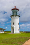 The lighthouse of Kilauea, Hawaii. A view of the lighthouse of Kilauea, Hawaii Royalty Free Stock Photos