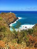 Lighthouse at Kilauea, Kauai in Hawaii Stock Photography
