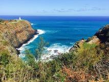Lighthouse at Kilauea, Kauai in Hawaii Royalty Free Stock Photography