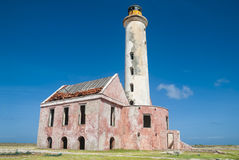 Lighthouse on Klein Curacao Stock Image