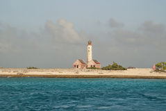 Lighthouse on Klein Curacao Stock Images