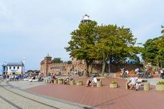 Lighthouse in Kolobrzeg Stock Photos