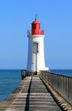 Lighthouse of la grande jetée in les Sables dOlonne (France) Royalty Free Stock Photo