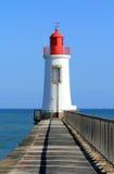 Lighthouse of la grande jetée in les Sables dOlonne (France) Royalty Free Stock Photo