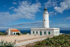 The Lighthouse of La Mola in Formentera royalty free stock image