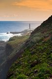 Lighthouse La Palma. The lighthouse at Punta Cumplida in Barlovento, La Palma, Canary islands, Spain Stock Photos