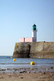 Lighthouse of la petite jetée in les Sables d'Olonne (France) Stock Photography