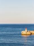 The lighthouse at La Valletta, Malta Royalty Free Stock Photos