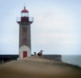 Lighthouse Lady of the light Stock Photo