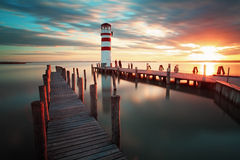 Lighthouse - Lake in Austria Royalty Free Stock Photo