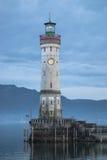 Lighthouse on lake Bondesee. Lindau, Germay Royalty Free Stock Photos