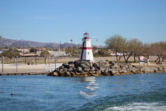 Lighthouse on Lake Havasu Arizona Royalty Free Stock Photography