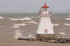 Lighthouse on Lake Huron Stock Photography