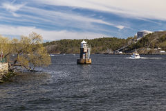 Lighthouse on Lake Malaren Stock Image