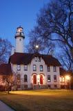 Lighthouse on Lake Michigan Royalty Free Stock Images