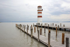 Lighthouse at Lake Neusiedl Royalty Free Stock Image