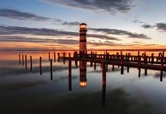 Lighthouse at Lake Neusiedl - Austria Stock Photography