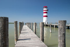 Lighthouse At Lake Neusiedl Stock Image