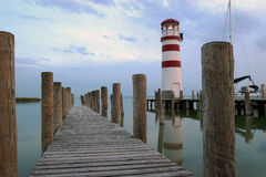 Lighthouse At Lake Neusiedl Stock Photography