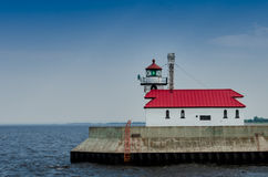 Lighthouse on Lake Superior. The lighthouse in Duluth, MN on Lake Superior royalty free stock photos
