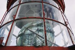 Lighthouse lamp detail. Brittany France