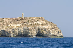 Lighthouse of Lampedusa stock photography
