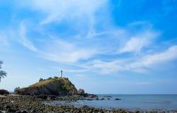 Lighthouse landmark of Koh Lanta, Krabi, Thailand royalty free stock photo