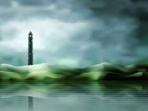 Lighthouse landscape vector illustration