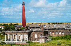 Lighthouse lange Jaap and Former Nazi casino Den H Royalty Free Stock Image