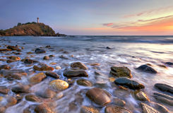Lighthouse Lanta Island. Locate at Krabi thailand royalty free stock photos