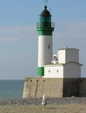Lighthouse (Le Treport). Lighthouse in 'Le Treport' in France Stock Images