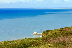 Lighthouse at Le Tréport, France. Stock Photography
