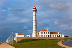 Lighthouse Leca, Porto district, Portugal Stock Photos