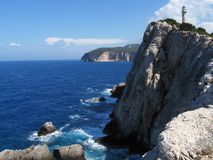 Lighthouse at Lefkada 2 Stock Images